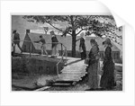 The Morning Bell Wood Engraving by Winslow Homer