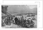 Departure of Garibaldi and his followers from Genoa on the night of May 5, 1860 by Corbis