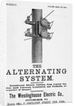 An advertisement for The Alternating System made by the Westinghouse Electric Co by Corbis