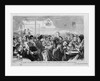 Newspaper Illustration Depicting Saturday Evening Among the Germans at One of their Favorite Places of Resort in the Bowery by Corbis