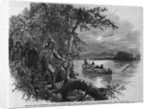 Half Breeds and French Voyageurs Towing a Boat Illustration Published in Frank Leslie's Illustrated Newspaper by Corbis