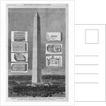 """Washington D.C. - Dedication of the Washington National Monument, February 21st - The Monument and some of the """"Memorial Stone."""" by Corbis"""