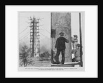 Workmen Giving a Coat of Paraffine to the Egyptian Obelisk in Central Park Illustration by Corbis