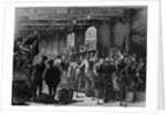 Searching Chinese immigrants for opium, at San Francisco. From a sketch by W. W. Bode by Corbis