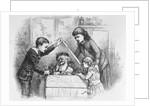A Christmas Box Magazine Illustration by Thomas Nast