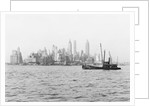 Steamboat in New York Harbor by Corbis