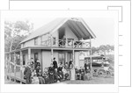 Men and Women Outside a Boarding House by Corbis