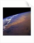 Dust Storm in the Sahara Desert by Corbis