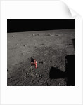 American Flag on the Moon by Corbis