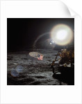Bright Sun Over a Lunar Module on the Moon by Corbis