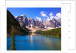 Mountains Looming over Blue Lake by Corbis