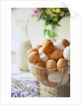 Eggs in a Metal Basket by Corbis