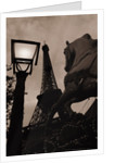 Carousel Horse, Street Light and Eiffel Tower by Corbis