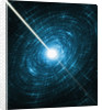 Light Intersecting Spinning Stars by Corbis