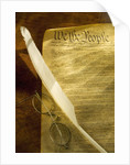 United States Constitution and Quill by Corbis