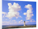 Yaquina Head Lighthouse and Cloudy Sky by Corbis
