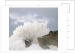 Waves Crashing on Rocky Shore by Corbis