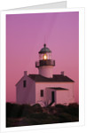 Lighthouse Against a Pink Sky at Twilight by Corbis