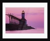 Michigan City Lighthouse at Sunset by Corbis