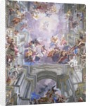 Detail of Heaven and Angels from The Glorification of Saint Ignatius by Andrea Pozzo