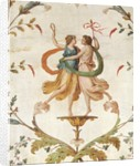 Fresco of Dancing Figures from the Neo-Classical Room in the Palazzo Spada by Corbis