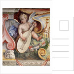 Angel Playing a Lute from the Salon of the Muses in the Villa Medici in Florence by Corbis