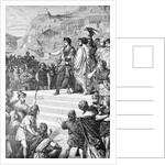 Illustration of Augustus Establishing Lyons as the Center of Gaul by Corbis