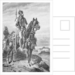Gaul with Horse Overlooking Land by Corbis