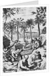 European Print of Drink Processing Activities in the New World by Corbis