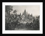 Hernando de Soto Discovering Mississippi River by Corbis