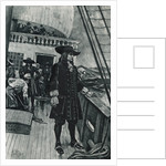 Portrait of English Admiral William Penn Gazing from Ship by Corbis
