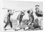 Three Men Having a Confrontation by Corbis