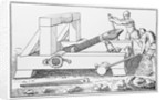 Drawing of an Early Catapult by Corbis
