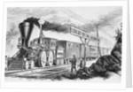 Spectators near Passing Locomotive by Corbis