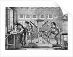 Workman Engraving Cooper by Corbis