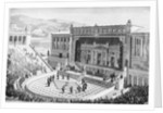 Illustration of Theatre of Dionysus in Athens by Corbis