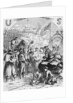 Santa Claus Visiting Civil War Camp by Corbis