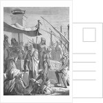 Illustration of Babylonian Merchants by Corbis