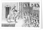 Illustration of Actor on Stage by Corbis