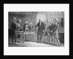 Antoine Lavoisier Showing Water Experiment to Observers by Corbis
