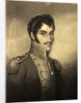 Detail from Portrait of Simon Bolivar by M.N. Bate