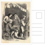Illustration of Benjamin Franklin as a Young Printer by Corbis