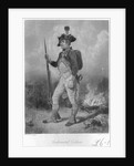 Engraving of a U.S. Continental Soldier by John C. McRae
