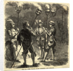 Medieval Watchman Holding Beacon and Cressets by Corbis