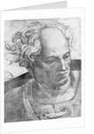 Detail of The Prophet Joel from the Sistine Chapel Ceiling Fresco Series by Michelangelo