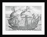 An Elizabethan Galleon by Corbis