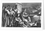 Illustration of Nero Playing While Rome Burns by Corbis
