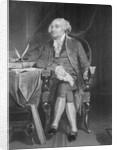 Portrait of John Adams at Desk by Corbis