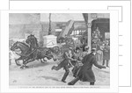 Citizens Escaping the Path of Runaway Horse Pulling Wagon by Corbis