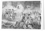 George Washington and Soldiers Attacking Hessians by Corbis